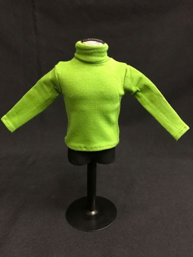 ELITE BRIGADE - ADVENTURER STYLE COMMANDER GREEN POLO NECK JERSEY to fit Action Man/Gi Joe Adventure Team etc